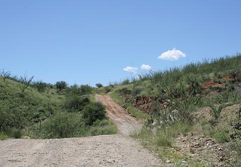 Forest Road 485 near Sahuarita, Arizona.