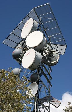 Microwave antennas on Mt. Bigelow, Arizona
