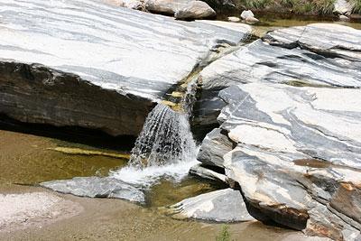 Banded Gneiss in Sabino Canyon, Tucson, Arizona