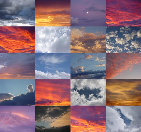 Mosaic of Tucson, Arizona skies