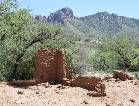 Adobe ruin in Helvetia, Arizona