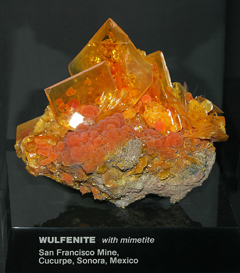 Wulfenite - The Firefly Forest