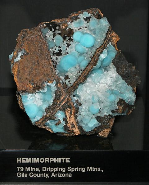 Hemimorphite, Hydrated Zinc Silicate Hydroxide Zn4Si2O7(OH)2·(H2O)