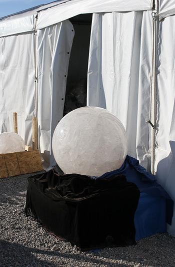 Giant Quartz sphere