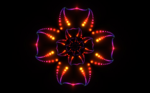 Psychedelic orange iTunes visualizer desktop picture